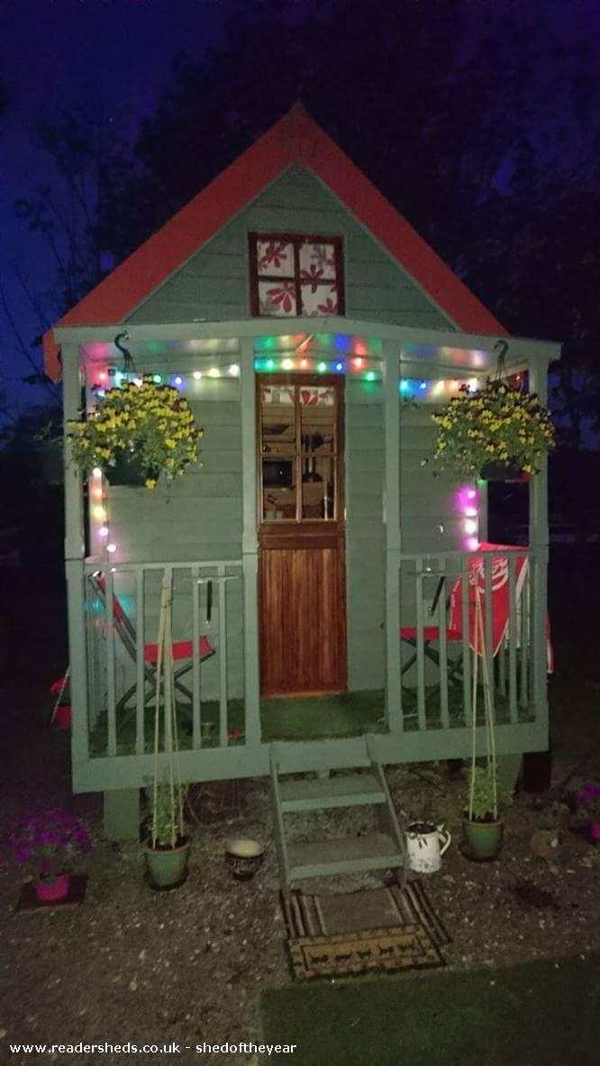 Photo of Tiny 1, entry to Shed of the year-front view with lights