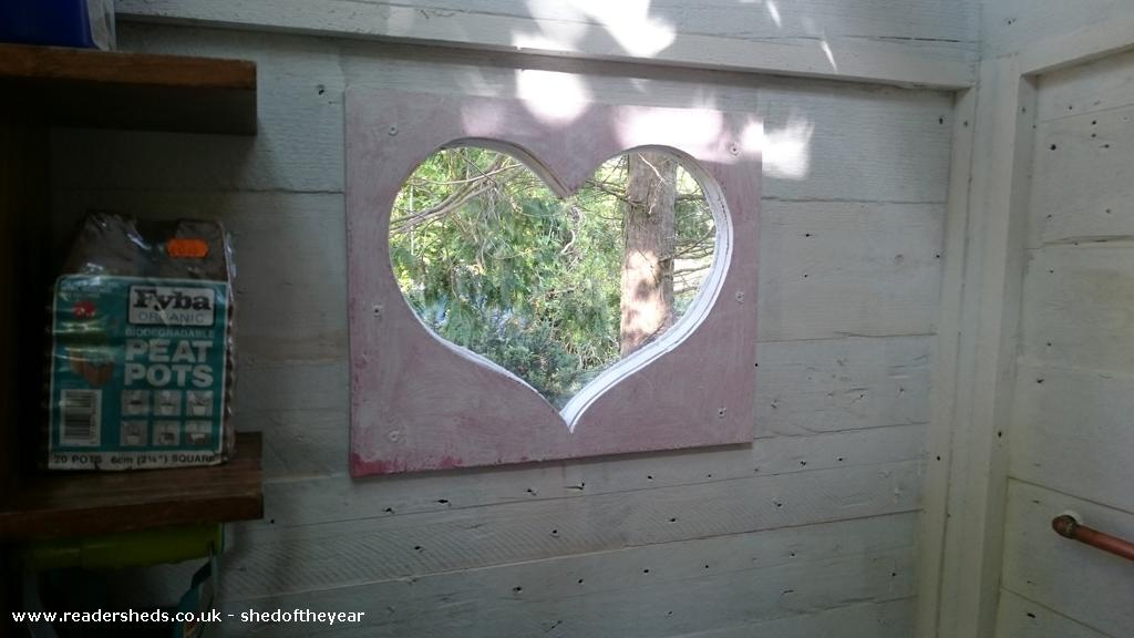 Photo of The Love Shack, entry to Shed of the year-Love window