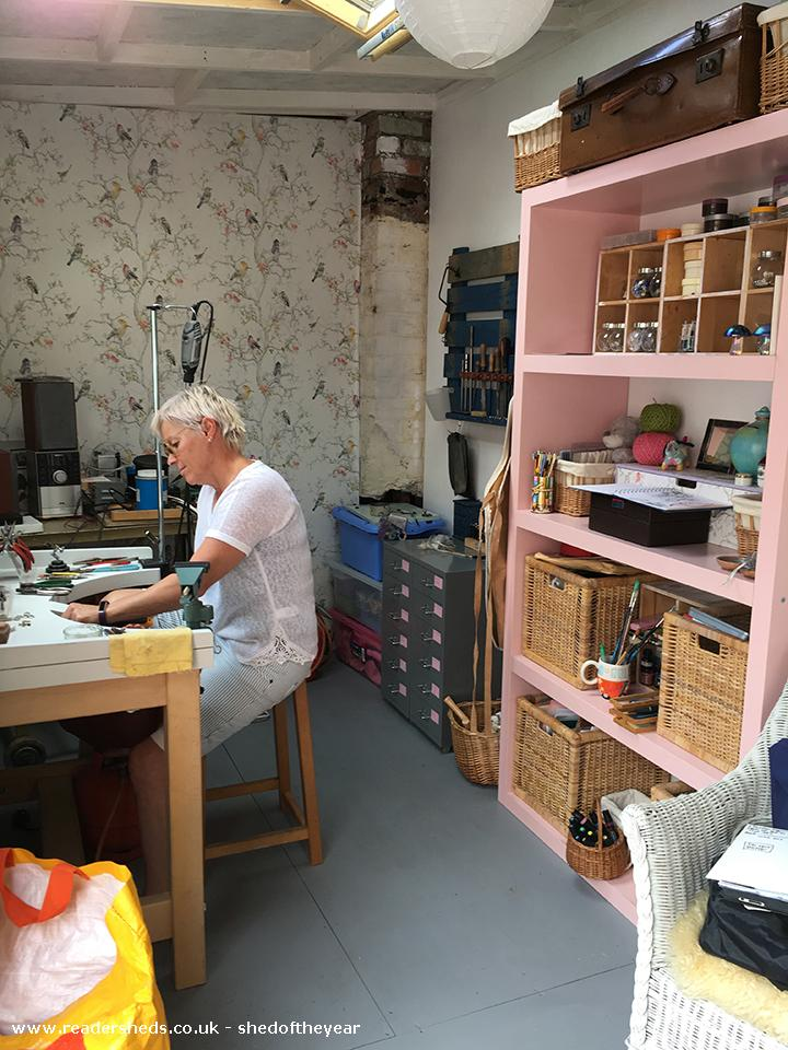 Photo of Susan's Funky Workshop, entry to Shed of the year-Workshop - Inside 1