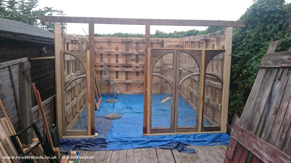 Photo of Pallet Hobbit House, entry to Shed of the year