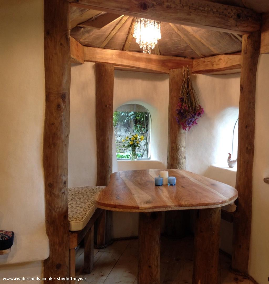 Photo of Hobbit House, entry to Shed of the year-Dining table in alcove