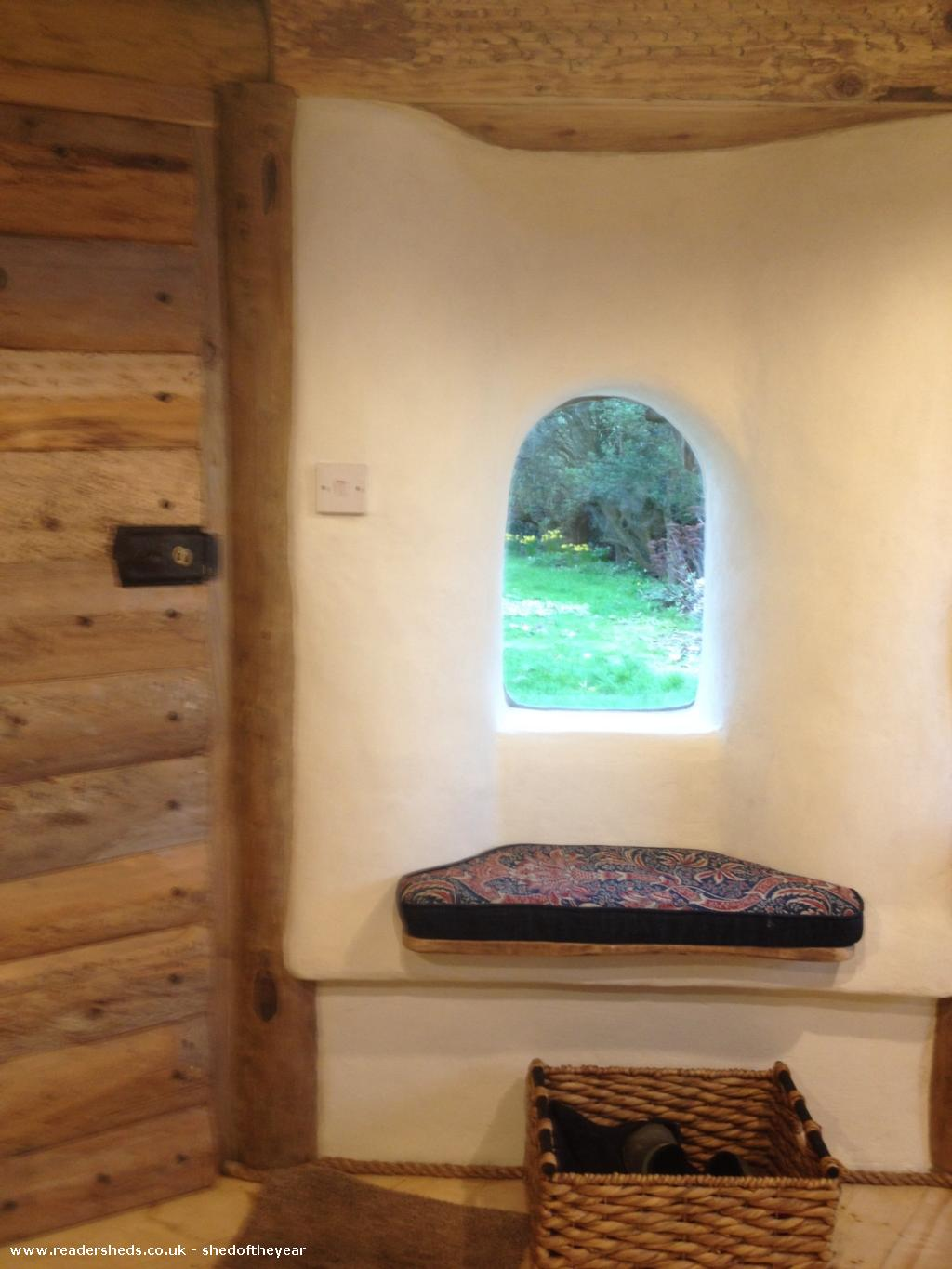 Photo of Hobbit House, entry to Shed of the year-Window seat
