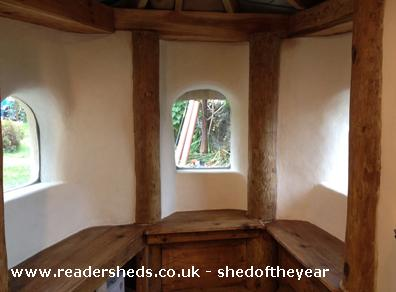 Photo of Hobbit House, entry to Shed of the year-Dining area