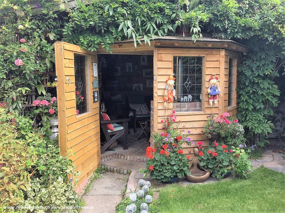 Photo of Love Shack Argentum, entry to Shed of the year-Both outside doors open
