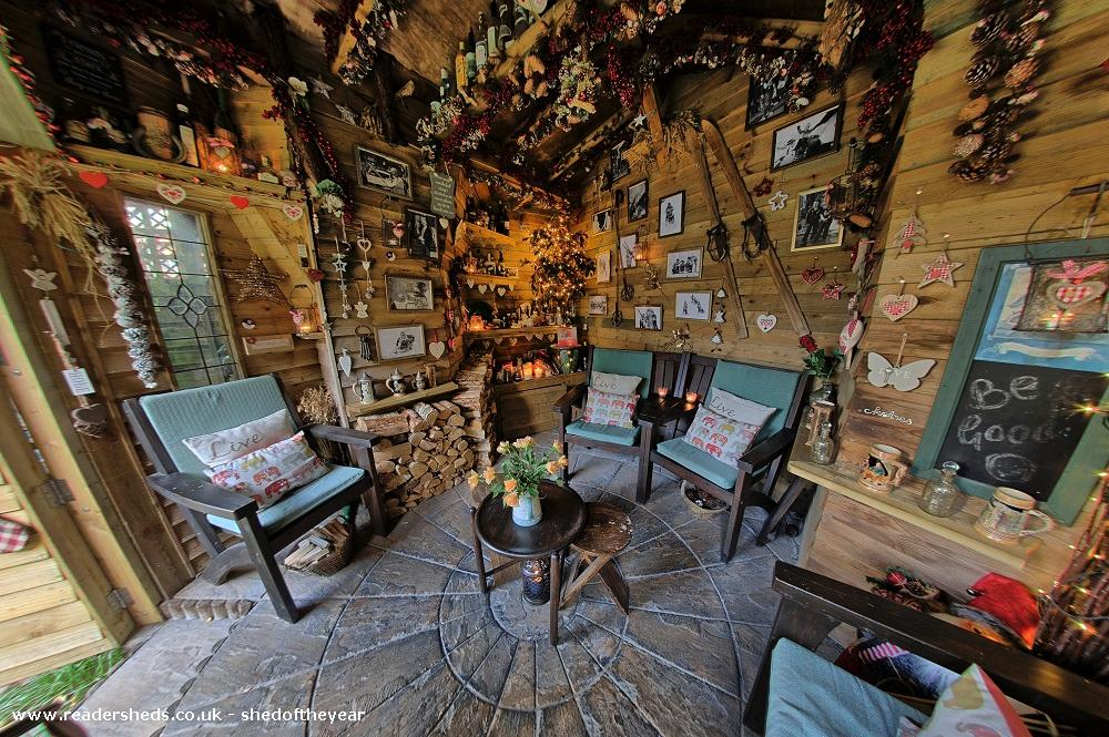 Photo of Love Shack Argentum, entry to Shed of the year-Internal view wood pile