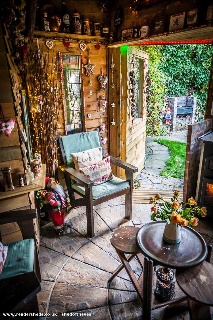 Photo of Love Shack Argentum, entry to Shed of the year-Internal view of second door looking out