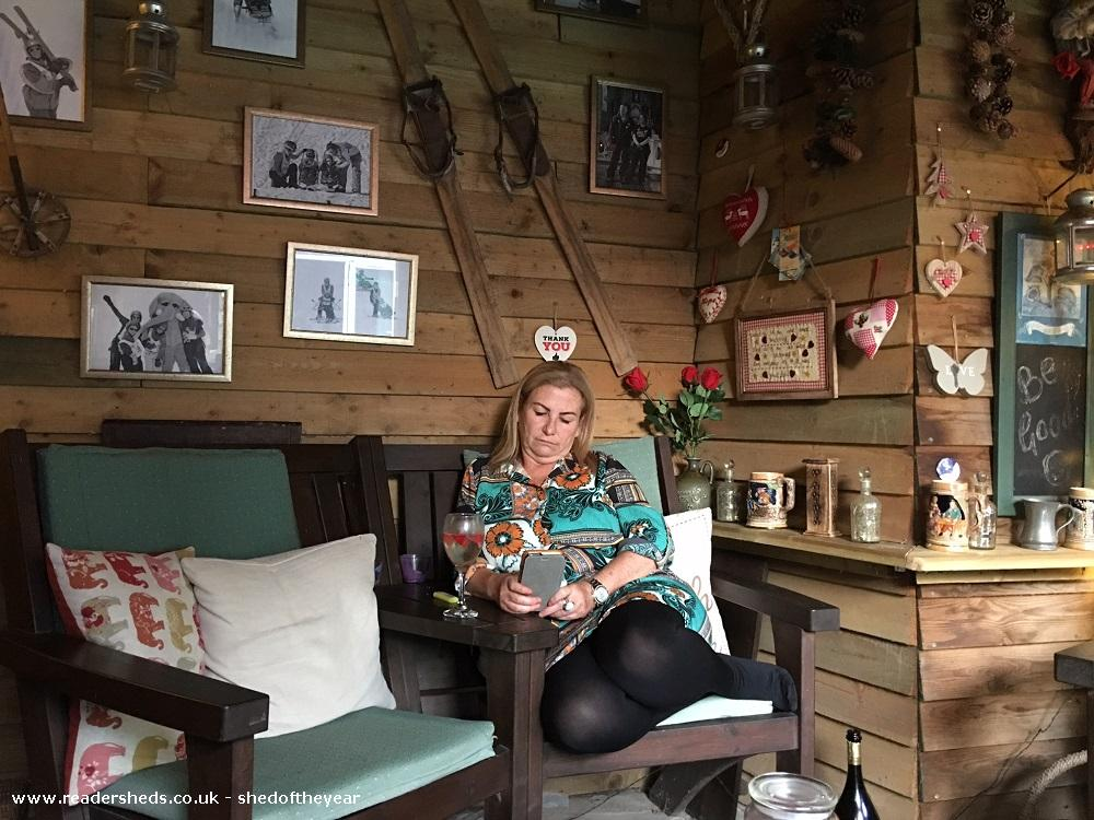 Photo of Love Shack Argentum, entry to Shed of the year-Internal relaxing