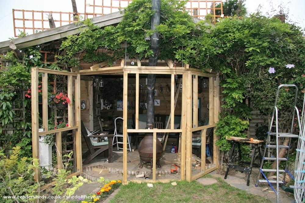 Photo of Love Shack Argentum, entry to Shed of the year-Second stage front construction