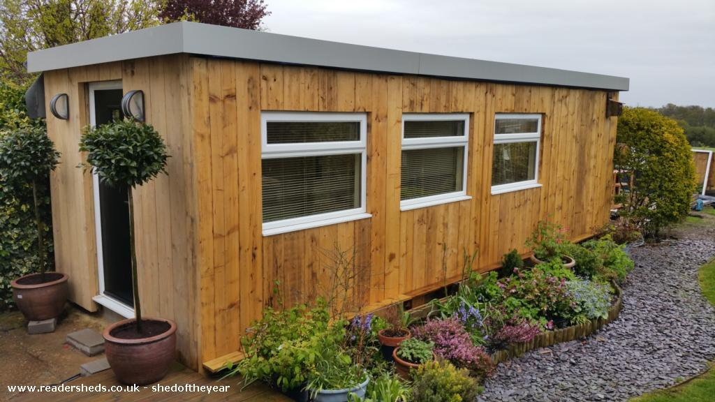 Photo of The Scaffold Board Studio, entry to Shed of the year-Finished Studio