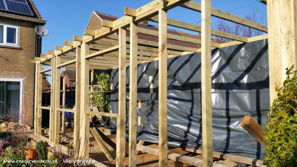 Photo of The Scaffold Board Studio, entry to Shed of the year-The Build