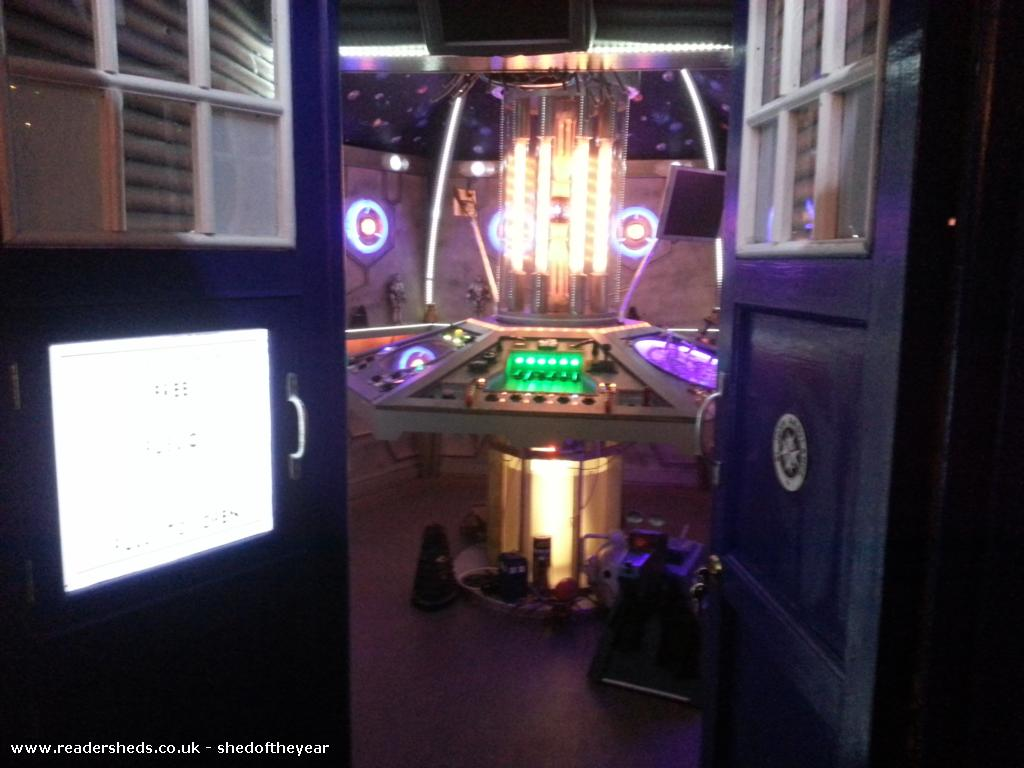 Photo of Tardis , entry to Shed of the year-Front of the tardis
