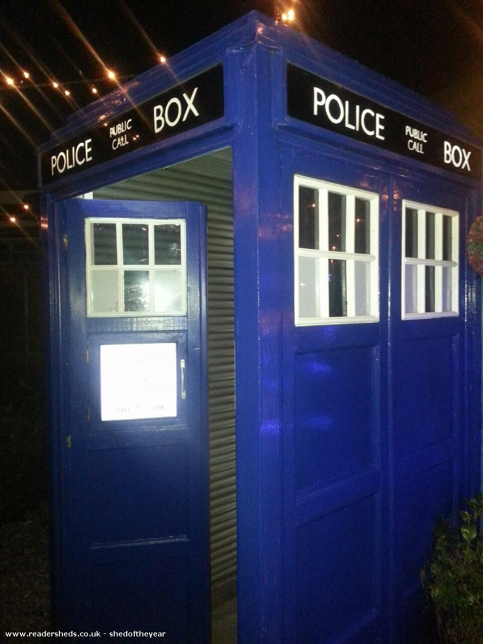 Photo of Tardis , entry to Shed of the year-Side view of the tardis