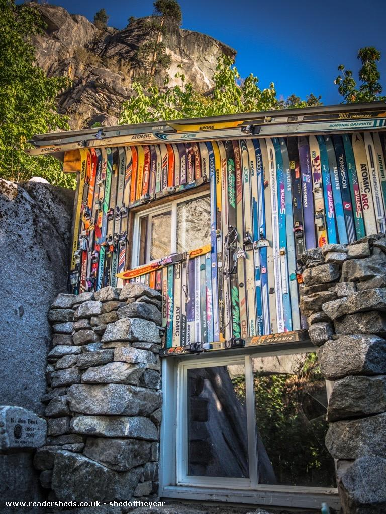 Photo of Rustic Stone Cabin, entry to Shed of the year-cabin front