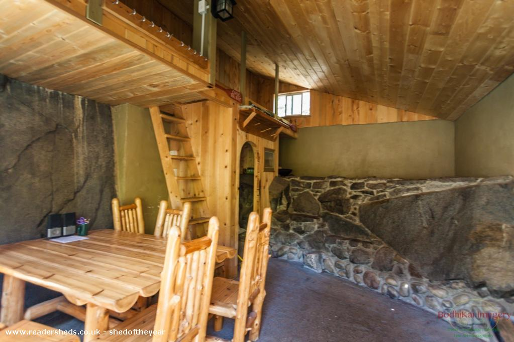 Photo of Rustic Stone Cabin, entry to Shed of the year-interior