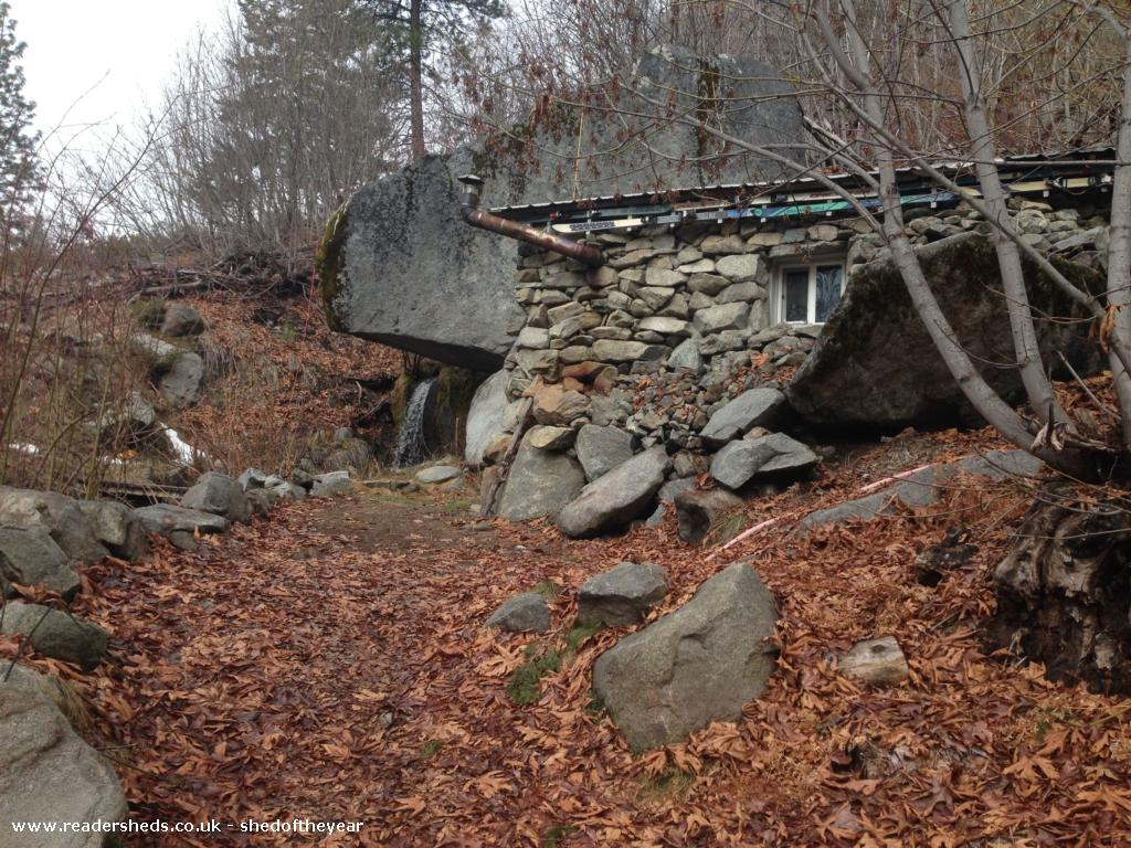 Photo of Rustic Stone Cabin, entry to Shed of the year-Fall