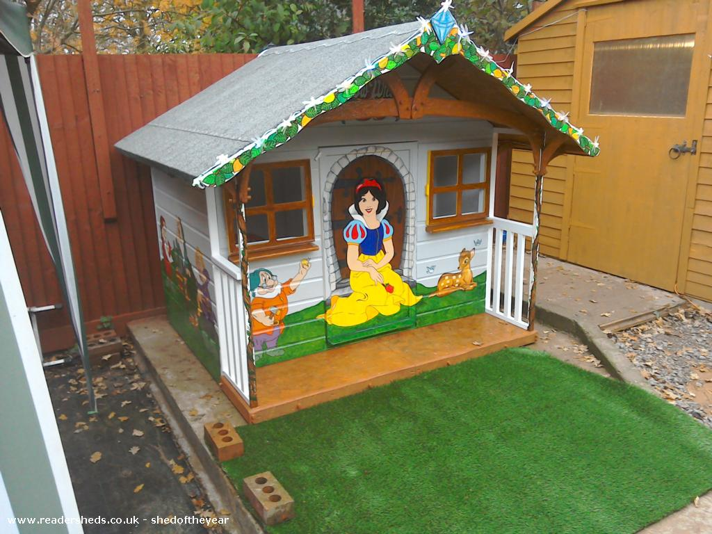 Photo of The seven dwarfs cottage, entry to Shed of the year-The seven dwarfs cottage garden-work in progress!