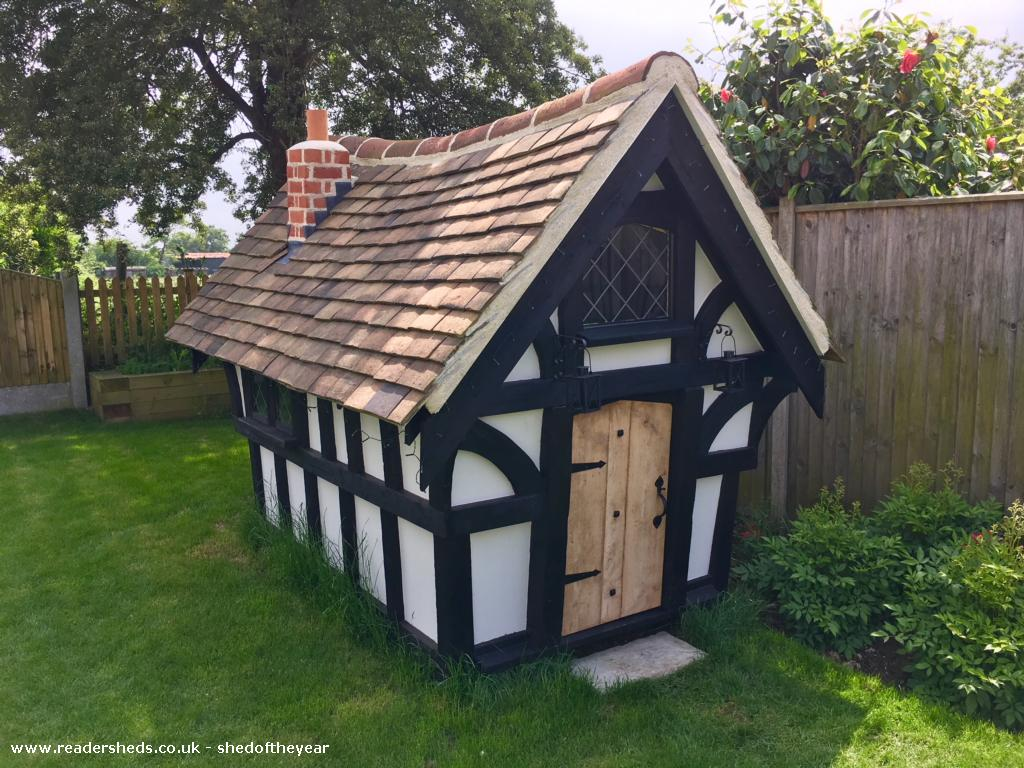 Photo of Tudor Playhouse, entry to Shed of the year-Front View