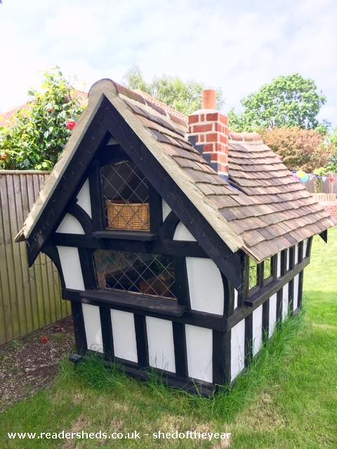 Photo of Tudor Playhouse, entry to Shed of the year-Rear