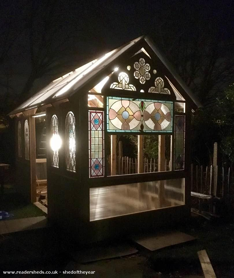 Photo of Great Glass Propagator , entry to Shed of the year-Right side night