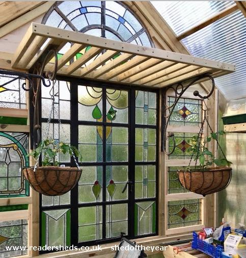 Photo of Great Glass Propagator , entry to Shed of the year-Inside with Plants