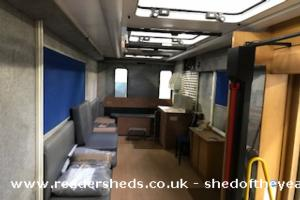 Seniors Together Mobile Men's Shed - Christine Calder - It is a restored Mobile Library and travels around the local authority area of South Lanarkhsire
