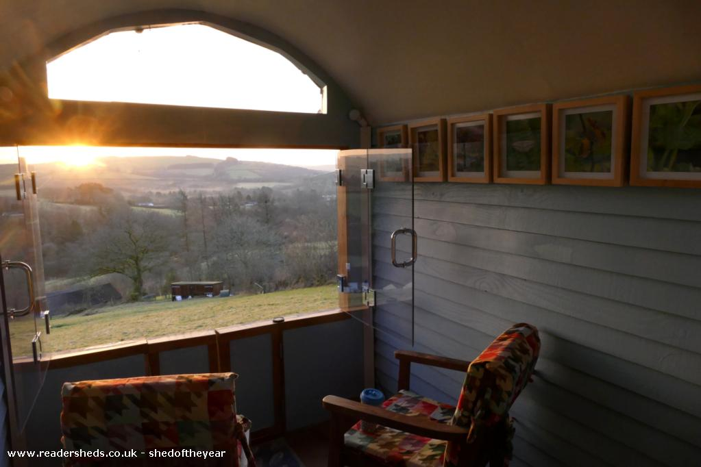 Photo of The Hut, entry to Shed of the year-Morning cup of tea