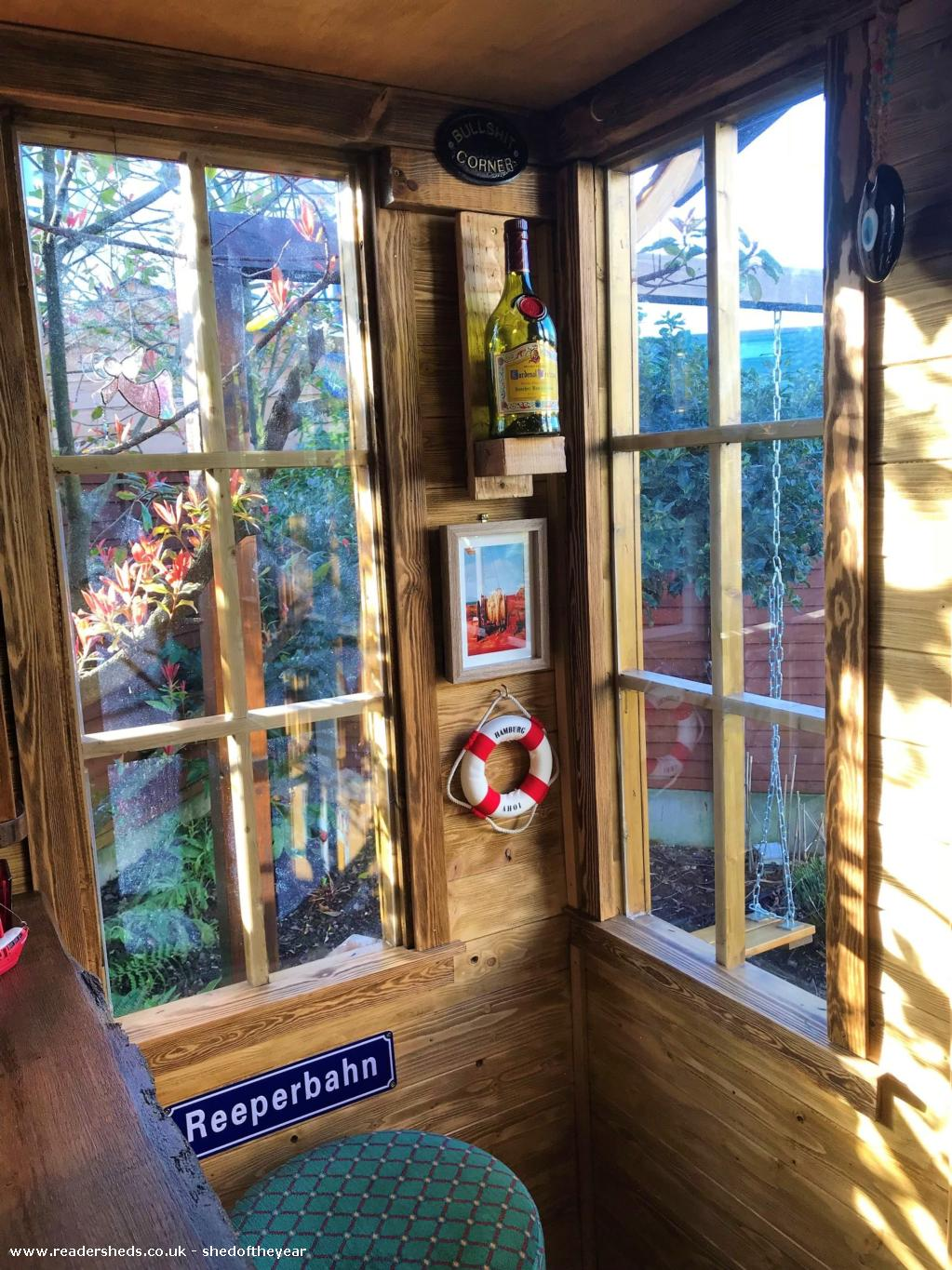 Photo of No. 88.5, entry to Shed of the year-At the bar looking out to the garden.