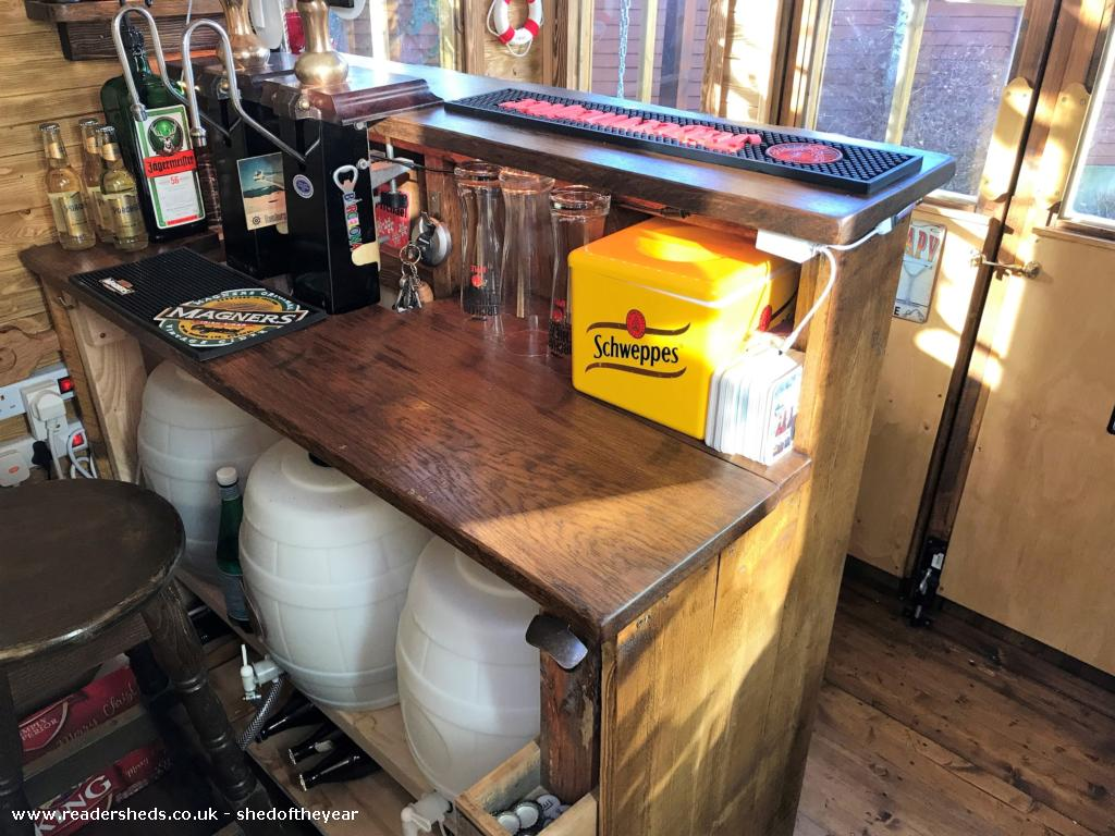 Photo of No. 88.5, entry to Shed of the year-Under the bar Home brew