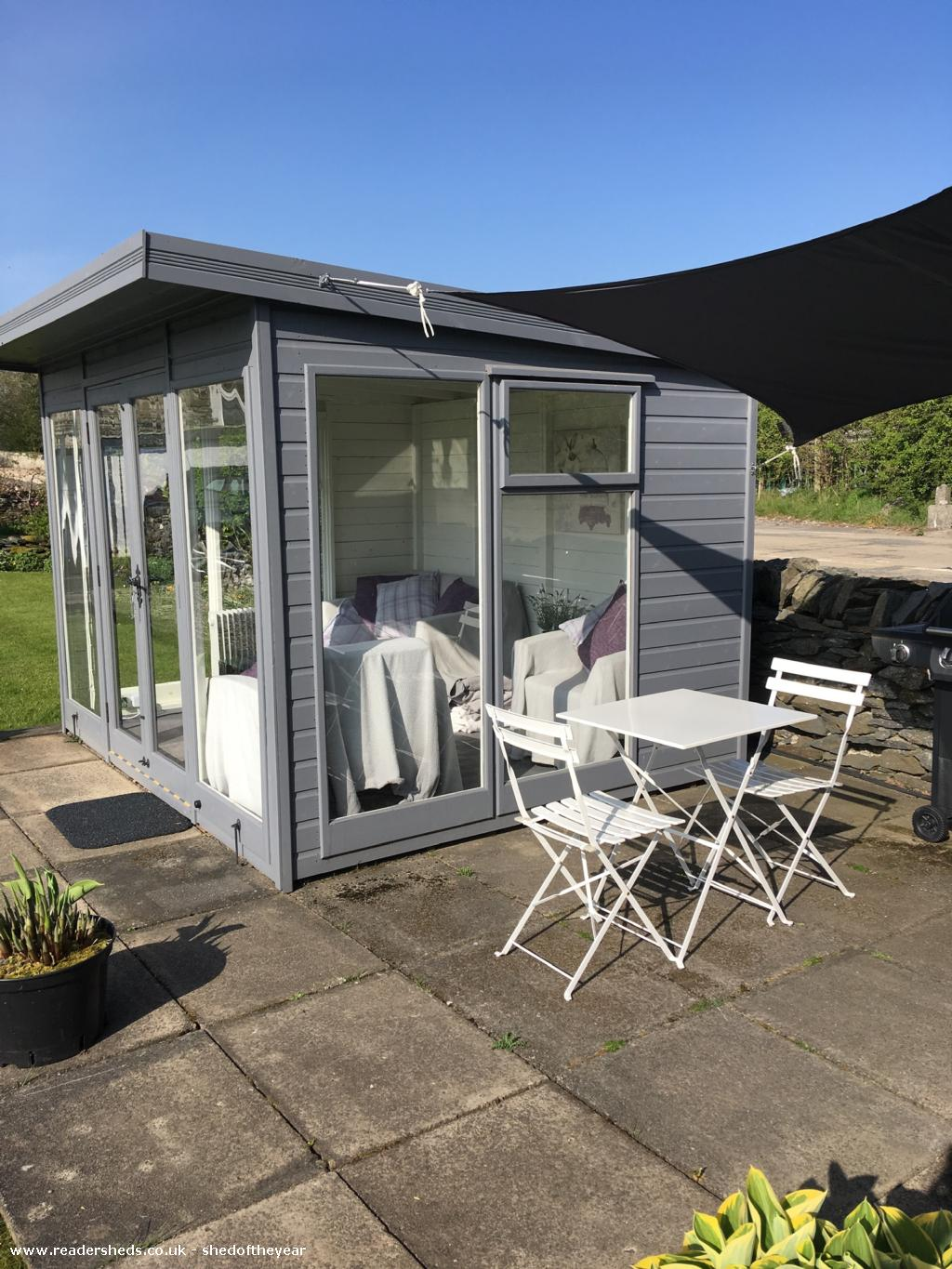 Photo of Pont Melin Shed, entry to Shed of the year-Patio area