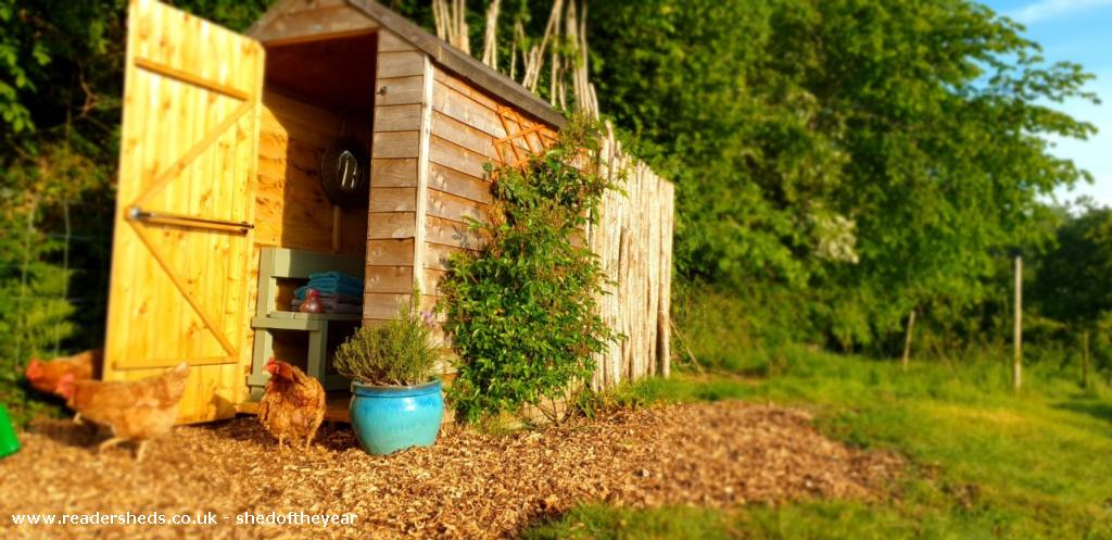 Photo of Al Fresco Shower Shed, entry to Shed of the year-Front view of changing room