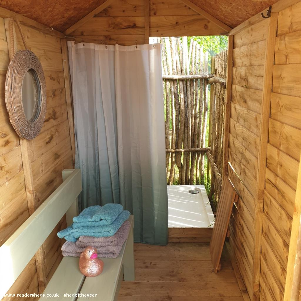 Photo of Al Fresco Shower Shed, entry to Shed of the year-Inside view of changing area