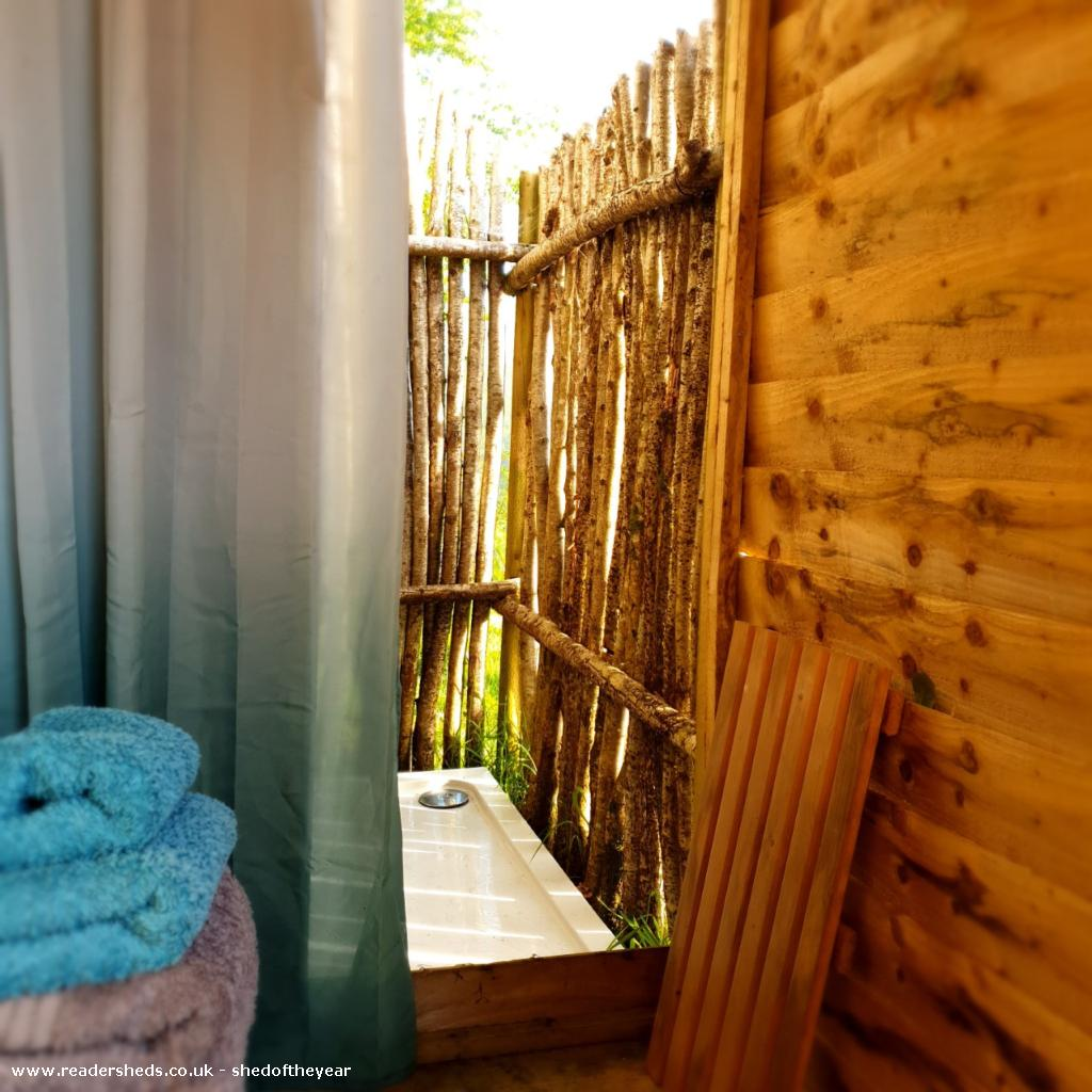 Photo of Al Fresco Shower Shed, entry to Shed of the year-Time for a shower!