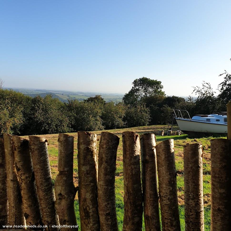 Photo of Al Fresco Shower Shed, entry to Shed of the year-View across to Exmoor