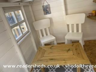 Photo of Socially Distanced Playhouse , entry to Shed of the year-Inside
