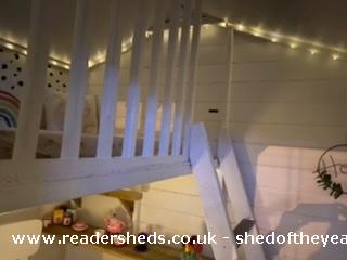 Photo of Socially Distanced Playhouse , entry to Shed of the year-Nighttime