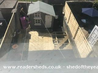 Photo of Socially Distanced Playhouse , entry to Shed of the year-Before