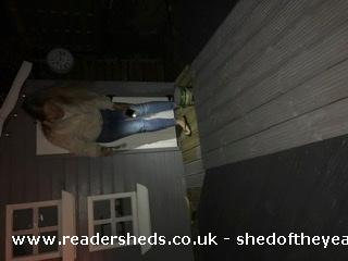 Photo of Socially Distanced Playhouse , entry to Shed of the year-Painting at night