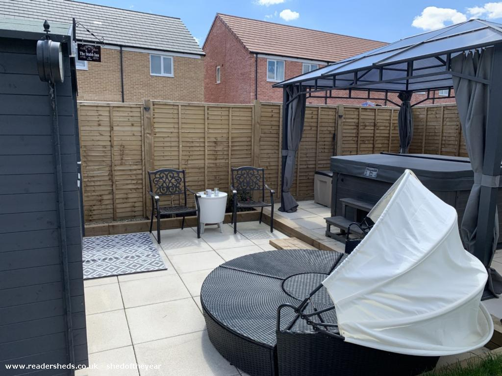 Photo of The Stubb Inn, entry to Shed of the year-outside seating & hot tub