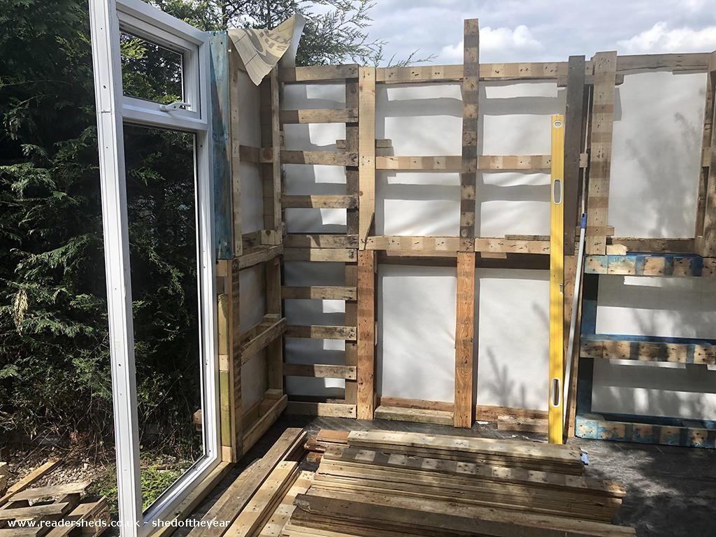 Photo of Lockdown Summerhouse, entry to Shed of the year-Pallet framework