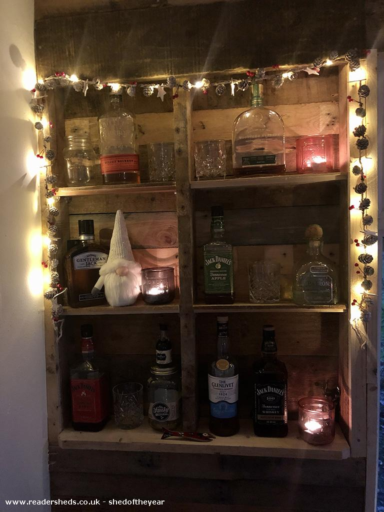 Photo of Lockdown Summerhouse, entry to Shed of the year-Bourbon bar!