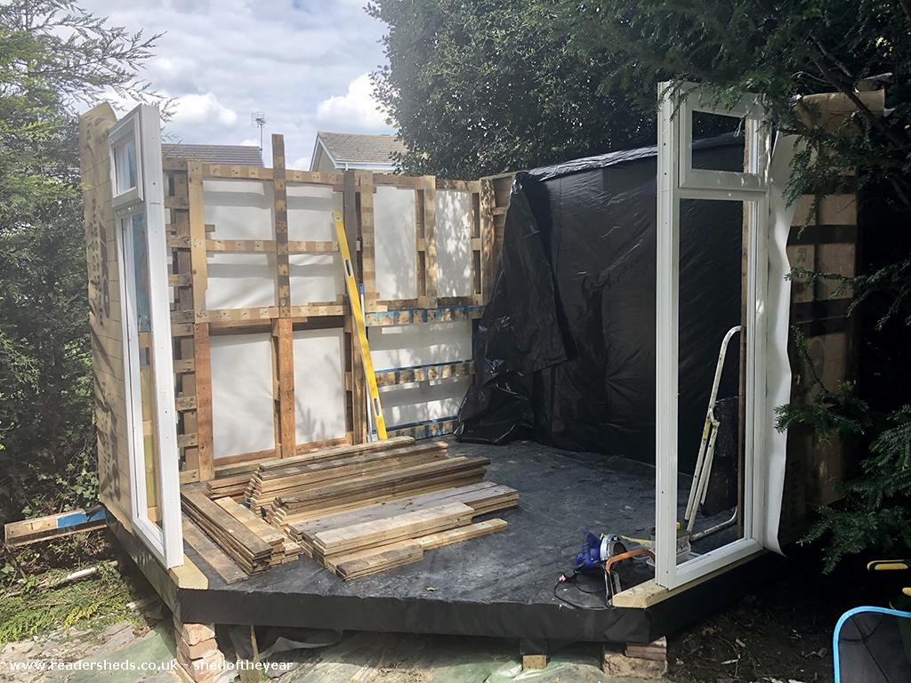 Photo of Lockdown Summerhouse, entry to Shed of the year-More framework done