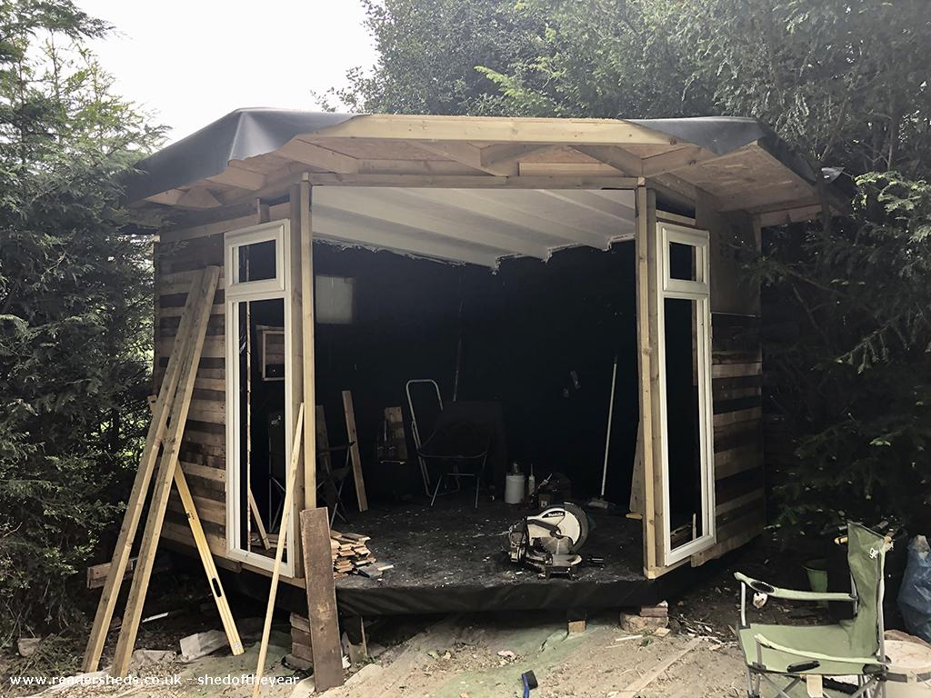 Photo of Lockdown Summerhouse, entry to Shed of the year-Taking shape