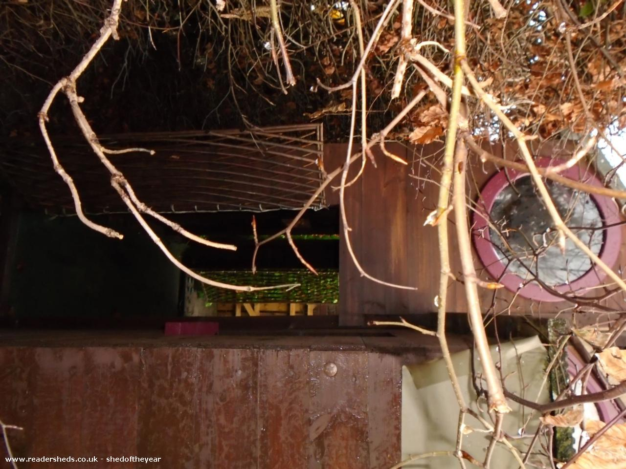 Photo of Ellie's Den, entry to Shed of the year-secret passage