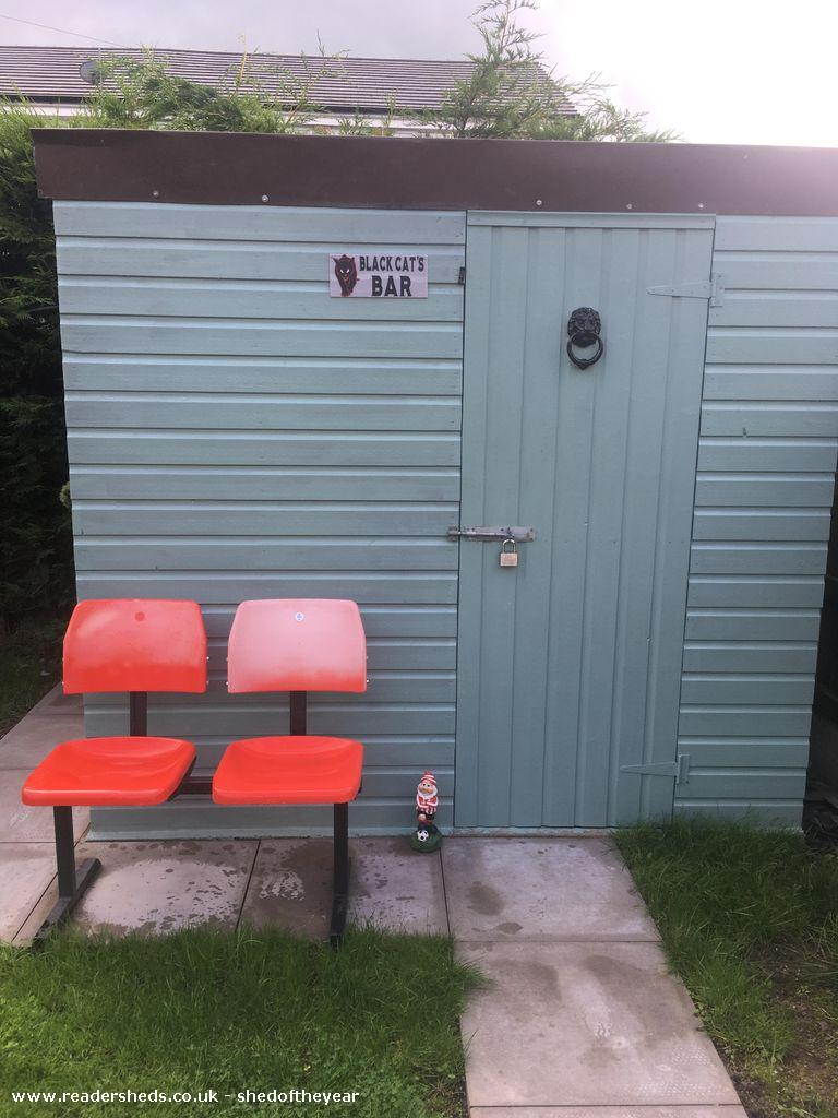 Photo of Black Cat's Bar, entry to Shed of the year