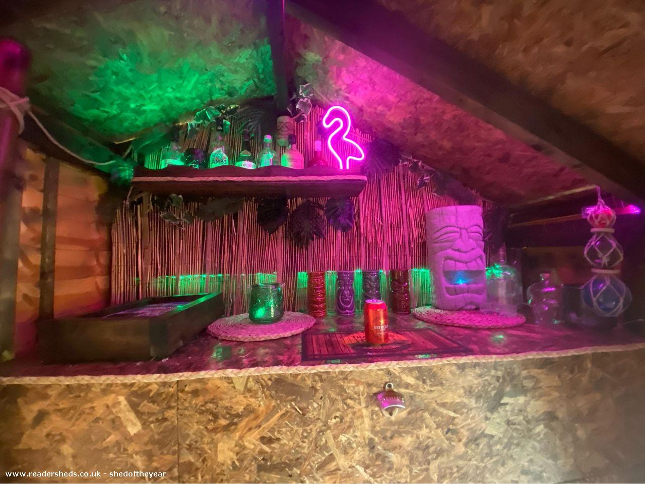 Photo of A-frame rum bar , entry to Shed of the year