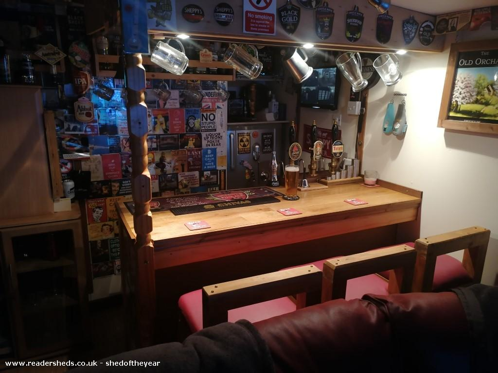 Photo of The Old Orchard, entry to Shed of the year-Inside view of Bar at night
