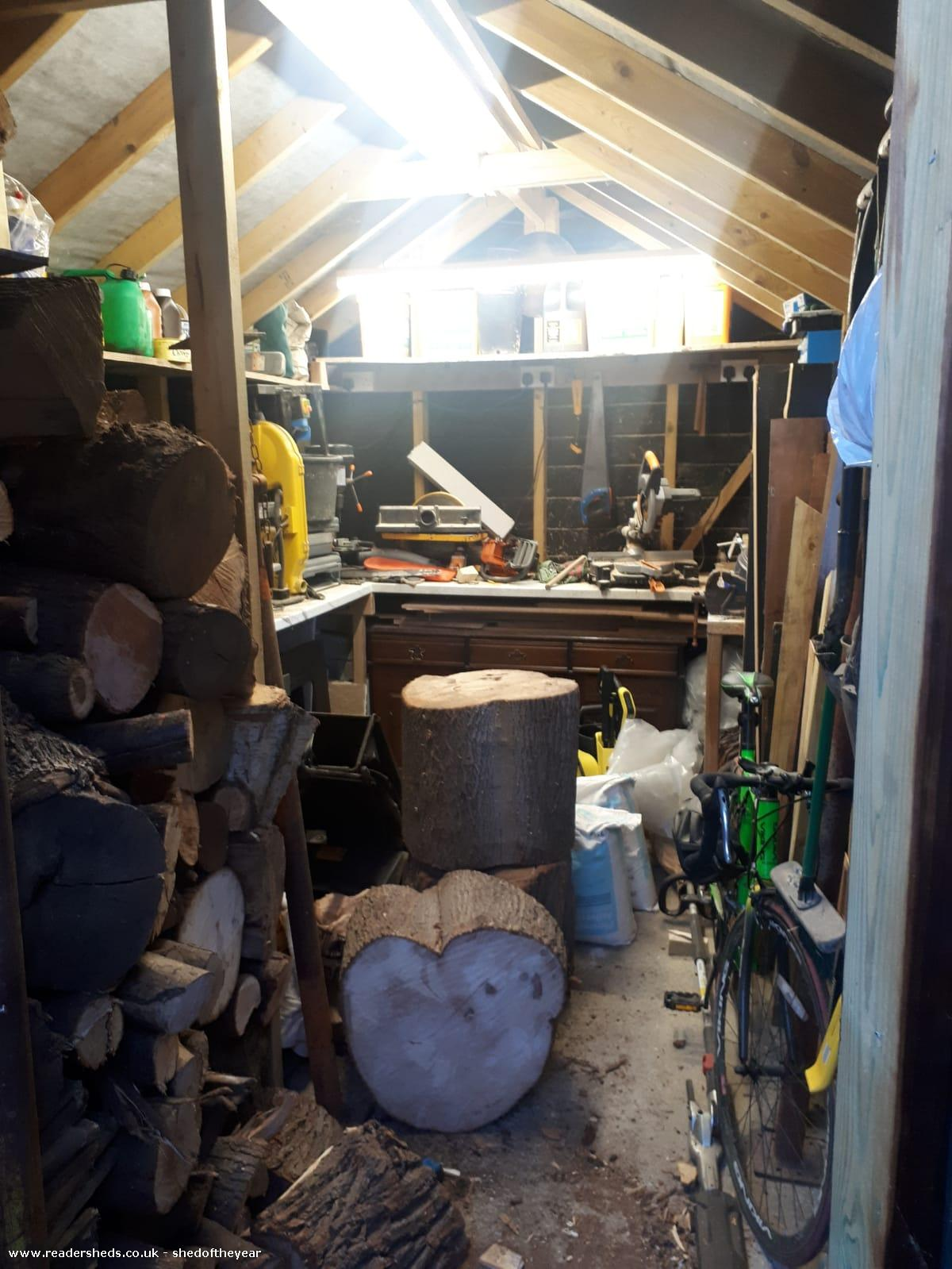 Photo of Barn shed, entry to Shed of the year-Inside from doorway