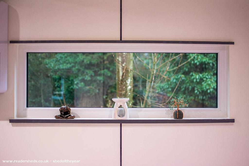 Photo of The Yoga Cabin, entry to Shed of the year-One of the panoramic windows looking out to the nature reserve