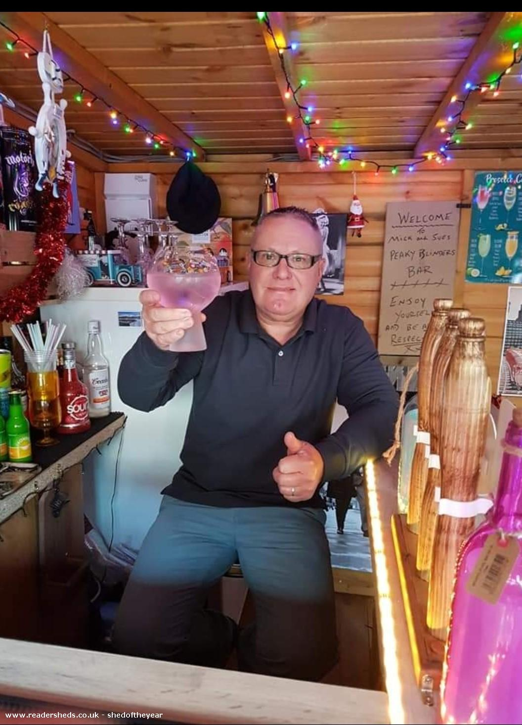 Photo of Mick & Sues Peaky Blinders Bar, entry to Shed of the year