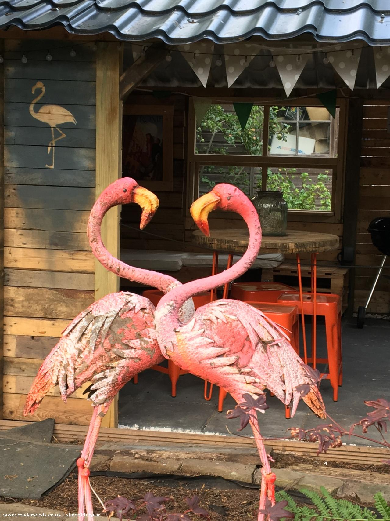 Photo of The Pink Flamingo Tiki Bar, entry to Shed of the year-Outside front view